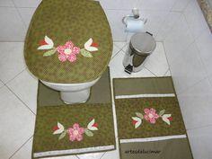 Jogo para banheiro com 3 peça, faço na cor desejada.Produzido com tecido 100% algodão.