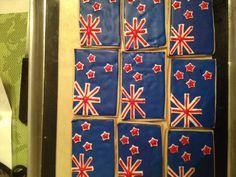 New Zealand flag cookies