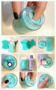 DIY zum Nagellack entfernen