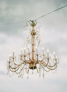 Open Air Chandelier | Photography: Katie Stoops