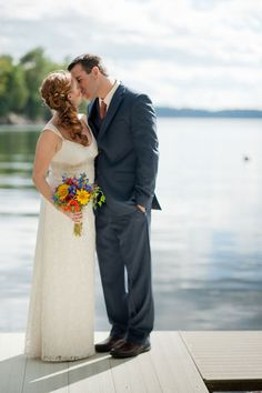 Gorgeous Photograph by Sarah Cocina Photography http://www.storyboardwedding.com/private-lake-champlain-cottage-wedding-with-country-flair-bright-hues/