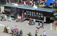 two 48-foot trailers with products and interactive displays. #ammunition #bullets #deer #hunting #trailers