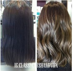 mocha ash ombre color