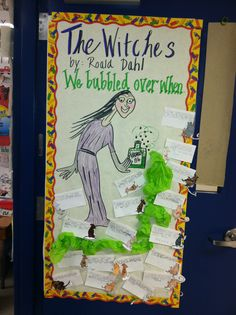 Reading Week 2014. Theme was Experiment with a New Book. Since we read The Witches by Roald Dahl, I had my students write about an event in the story that made them bubble over with excitement, happiness or laughter.