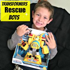 Transformers Rescue Bots Toys for Boys.  Change them from robots to cars!  My 6 year old really loves his Bubblebee guy.