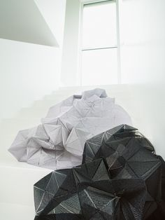 Looming Large: innovation in new textile design  Bold folds: 'Origami' from Zimmer + Rohde uses heat-bonded embroidery to create a truly three-dimensional textile
