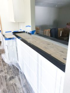 City House Kitchen – The Marshall Remodel Country Kitchen Cabinets, Farmhouse Kitchen Decor, Kitchen Redo, Kitchen Remodel, Kitchen Ideas, Concrete Countertop Mix, Kitchen Room Design, Upstairs Bathrooms, Home Kitchens