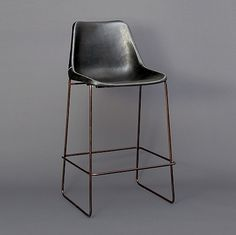 High Leather Giron Bar Stool by Sol y Luna : MONC XIII