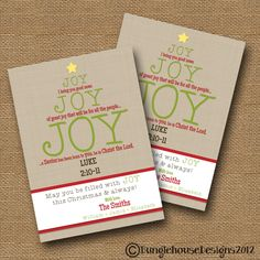 christmas card joy joy joy christian christmas card typography card holiday scripture card christmas tree card diy printable - Christmas Card Scripture