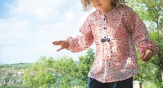 free sewing pattern download for girls top. French Credit: Tana Editions