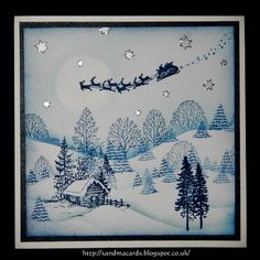 Sandma's Handmade Cards: Blue Christmas