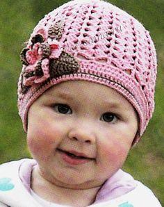 Розовая ажурная шапочка, фото