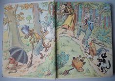 Nepříliš viděná dětská knížka od Emy Tintěrové. Vydalo nakladatelství J.Hokr Praha 1948, poloplátěná vazba, krásné ilustrace Ondřej Sekora