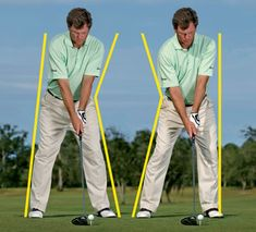 Breaking Swing Wide To Narrow To Wide - Golf Digest. Best ways to break 90 in golf today. Pga Tour Players, Golf Basics, Golf Score, Golf Putting Tips, Golf Chipping, Driving Tips, Golf Instruction, Golf Exercises, Golf Training