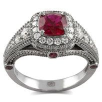18k Ruby and Diamond Ring from Borsheims