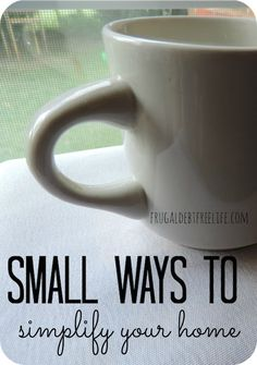 Small ways I've simplified our home. Sometimes it's the small stressers that we can eliminate to streamline our homes.