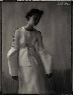 Vogue Turkey Issue: March 2012 Title: A Black & White Poem Models: Codie Young and Nina Porter Photography: Sarah Moon Styling: Sebastian Kaufmann