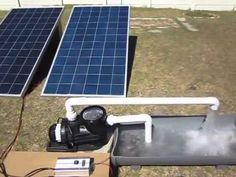 Here we show you how the PV DC swimming pool pump operates. In this video we have 2 pv panels connected to the system. Pool Solar Panels, Solar Panel Cost, Landscaping Software, Landscaping Company, Solar Energy, Solar Power, Solar Panel Technology, Pv Panels, Pond Pumps