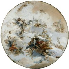 """""""St Leo in Glory (sketch for the ceiling of the church of San Lio, Venice)"""" by Tiepolo, Domenico, 1783-174 (painted)"""