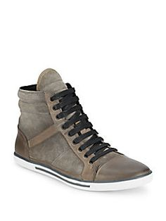Kenneth Cole - Sun-Down Leather & Suede High-Top Sneakers