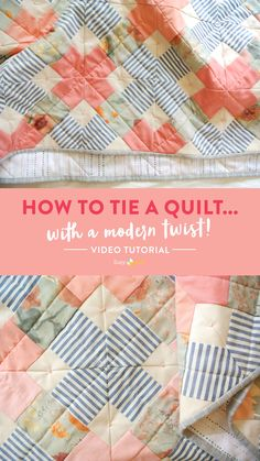 Embroidery Stitches Tutorial A video tutorial showing you how to tie a quilt! Use this simple quilt tying technique to finish your quilt, or add handmade texture to your machine quilting. The supplies used include DMC Pearl Cotton thread Simple Embroidery, Silk Ribbon Embroidery, Embroidery Kits, Machine Embroidery, Embroidery Designs, Eyebrow Embroidery, Embroidery Saree, Rose Embroidery, Quilting For Beginners