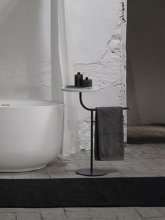 Bivio Freestanding Towel Rack With Tray Designer Rails From Inbani All Information High Resolution Images Cads Catalogues