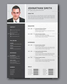 Buy Resume by ResearchStudio on GraphicRiver. Professional Resume / CV Template with super modern and professional look. Free Professional Resume Template, Sample Resume Templates, Creative Resume Templates, Curriculum Vitae Template Free, Cv Design Template, Cv Inspiration, Infographic Resume, Resume Layout, Wireframe