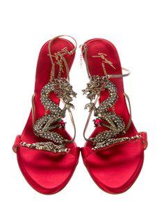 Giuseppe Zanotti Embellished Dragon Sandals - Shoes - GIU31139 | The RealReal
