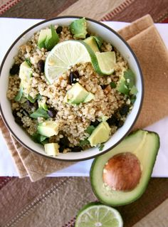 avocado mixed grain salad
