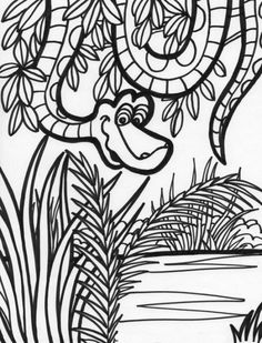 jungle coloring pages free picture to color all about free - Coloring Pictures Free