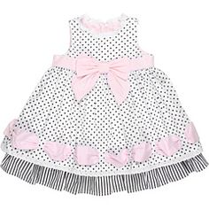 Biscotti Little Darling Ribbon Dress (Infant) Black/White Accent - Zappos.com Free Shipping BOTH Ways
