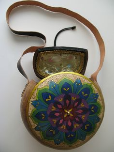 Mandala gourd purse by Bliss Point Creations, via Flickr