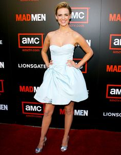 January Jones in a flirty Miu Miu frock at the Mad Men Season 2 premiere in Hollywood.
