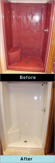 How we painted our old, yellow fiberglass bathtub to make it look ...