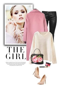 """""""Pink coat"""" by yexyka ❤ liked on Polyvore featuring Kershaw, Balenciaga, Dolce&Gabbana and Dorothy Perkins"""