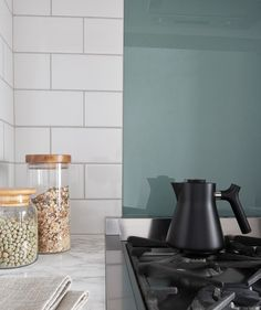 Duck Egg Splashback. Glass splashbacks never go out of style and this range of toughened glass works with any kitchen style and colour. Available in two sizes and a variety of colours, they present a simple alternative to a tiled splashback.