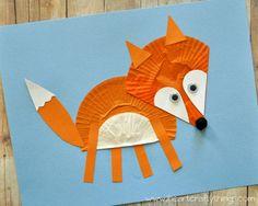 I HEART CRAFTY THINGS: Cupcake Liner Fox Craft