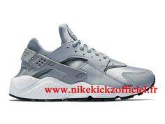 brand new 5d40a be2ad Site Nike Air Huarache Run Chaussures Nike Sportswear Pas Cher Pour Homme  Gris…