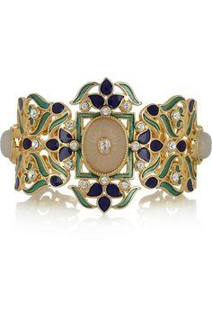 Isharya   Jaisel 18-karat gold-plated multistone cuff