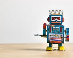The Curious Brain, robots colorful toys robot playing drums drumming drummers drum kits sets drum sticks musicians bands,robots  hair is metal spring coils,