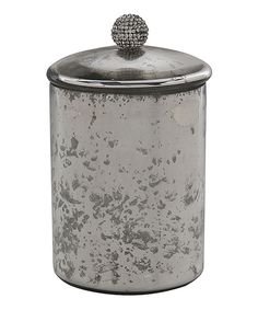 Look at this #zulilyfind! 6'' Silver Apothecary Jar by Home Essentials and Beyond #zulilyfinds