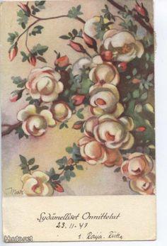 Martta Wendelin Acrilic Paintings, Christmas Rose, 23 November, Typography Prints, Illustrations And Posters, Martini, Finland, Vintage Art, Illustrators