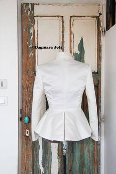 Tuxedo peplum jacket women's blazerblack peplum | Etsy