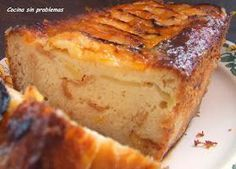 Puding manzanas Great Desserts, Delicious Desserts, Yummy Food, Sweet Recipes, Cake Recipes, Dessert Recipes, Bread Recipes, Pie Cake, Pastry Cake