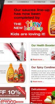 Website design pentru Dracula Foods