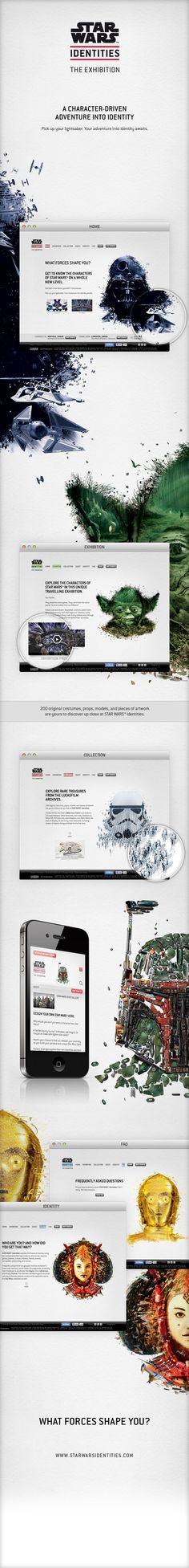 Star Wars Identities: The Exhibition - Website // http://www.behance.net/gallery/Star-Wars-Identities-The-Exhibition-Website/4958057