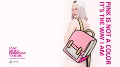 PINK IS NOT A COLOR IT'S THE WAY I AM | JumpFromPaper ® America | Carly Purse $89
