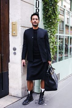 Marc Jacobs in a kilt and docs...