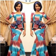 Creative Ankara Skirt and Blouse Style -http://www.dezangozone.com/2015/10/creative-ankara-skirt-and-blouse-style_27.html  DeZango Fashion Zone