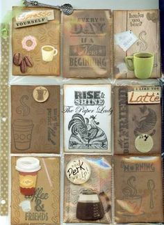 Image result for coffee theme artist trading cards